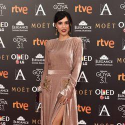 Cristina Brondo en la alfombra roja de los Premios Goya 2017