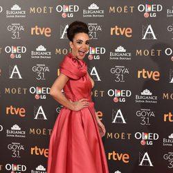 Cristina Rodríguez en la alfombra roja de los Premios Goya 2017