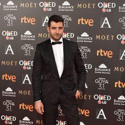 Antonio Velázquez en la alfombra roja de los Premios Goya 2017