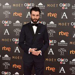 Javier Rey en la alfombra roja de los Premios Goya 2017