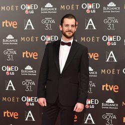 Guillermo Barrientos en la alfombra roja de los Premios Goya 2017
