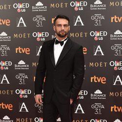 Jesús Castro en la alfombra roja de los Premios Goya 2017