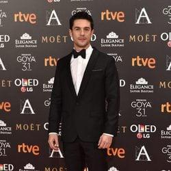 Alejo Sauras en la alfombra roja de los Premios Goya 2017