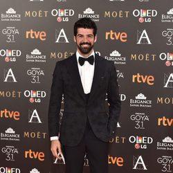 Miguel Ángel Muñoz en la alfombra roja de los Premios Goya 2017