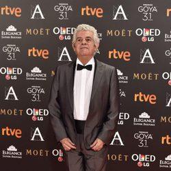Guillermo Montesinos en la alfombra roja de los Premios Goya 2017