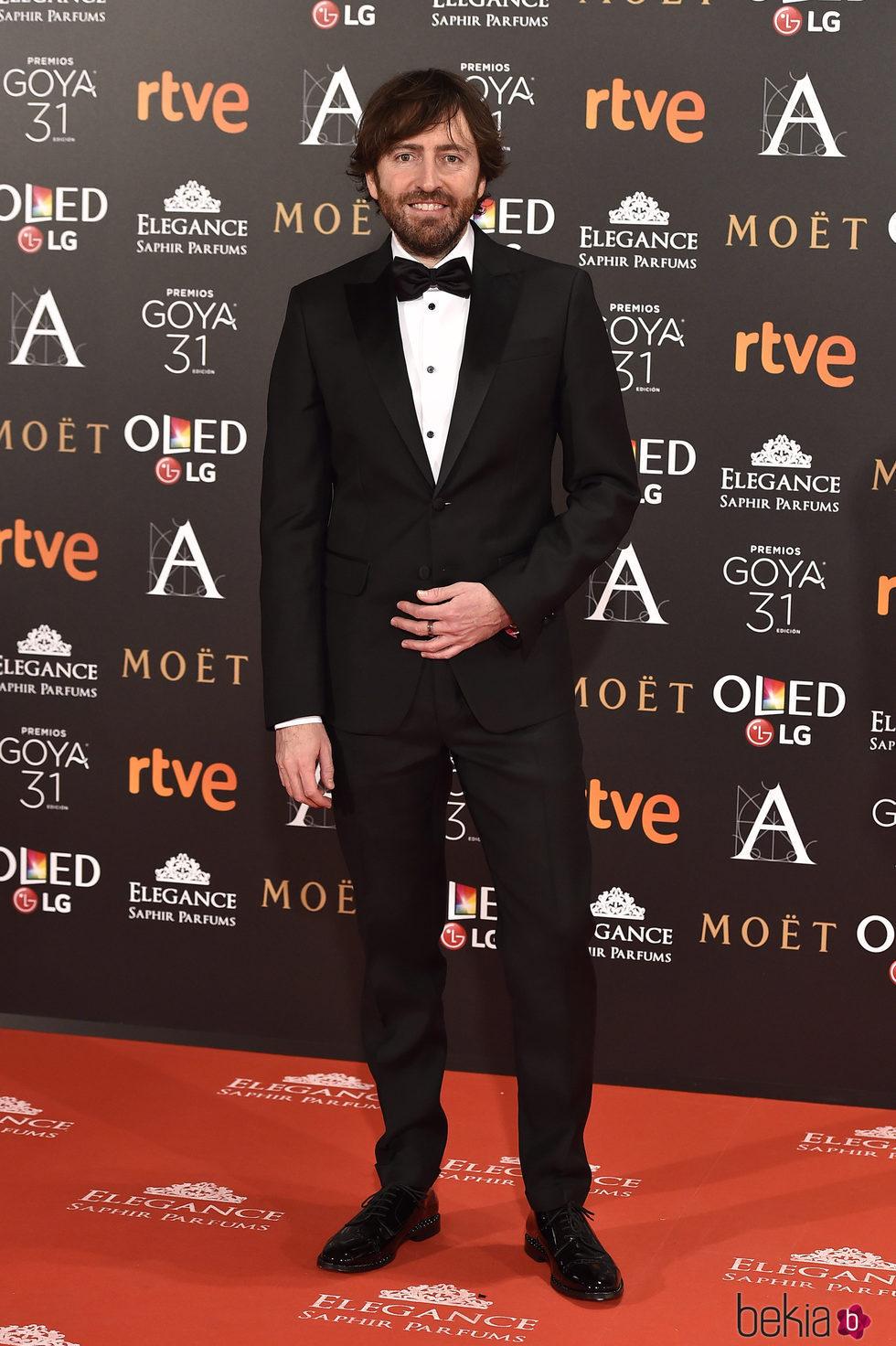 Daniel Sánchez Arévalo en la alfombra roja de los Premios Goya 2017