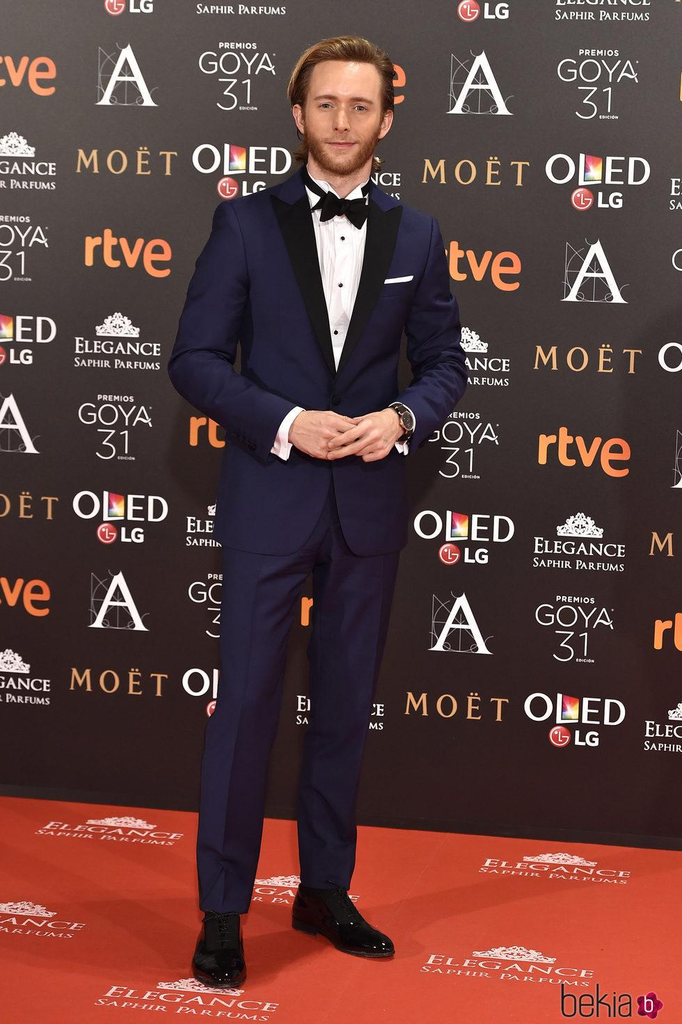 Pablo Rivero en la alfombra roja de los Premios Goya 2017