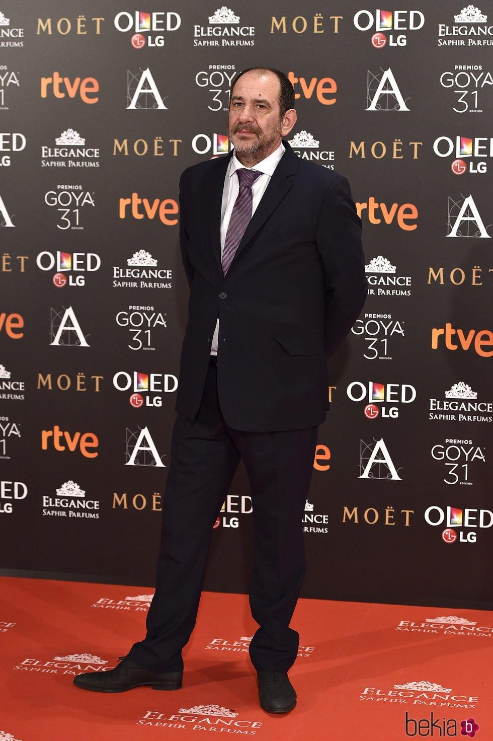 Karra Elejalde en la alfombra roja de los Premios Goya 2017