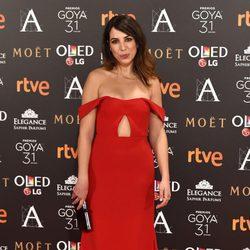 Alicia Rubio en la alfombra roja de los Premios Goya 2017