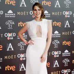 Natalia Sánchez en la alfombra roja de los Premios Goya 2017