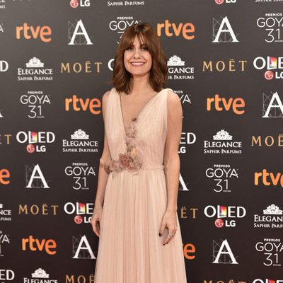 Alexandra Jiménez en la alfombra roja de los Premios Goya 2017