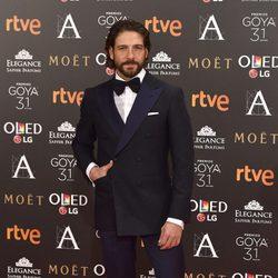 Félix Gómez en la alfombra roja de los Premios Goya 2017