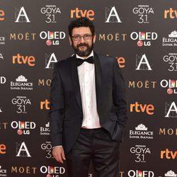 Manolo Solo en la alfombra roja de los Premios Goya 2017