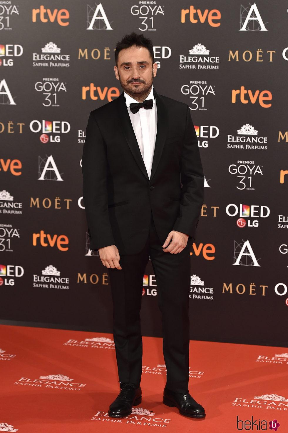 Juan Antonio Bayona en la alfombra roja de los Premios Goya 2017