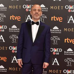 Javier Gutiérrez en la alfombra roja de los Premios Goya 2017