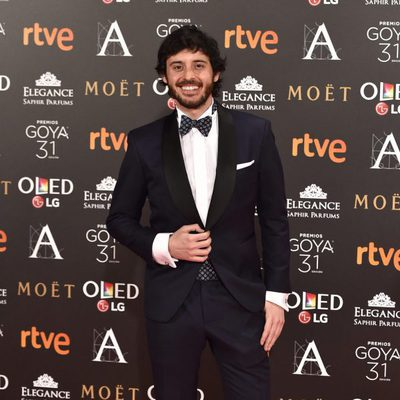 Javier Pereira en la alfombra roja de los Premios Goya 2017