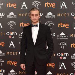 Emilio Palacios en la alfombra roja de los Premios Goya 2017