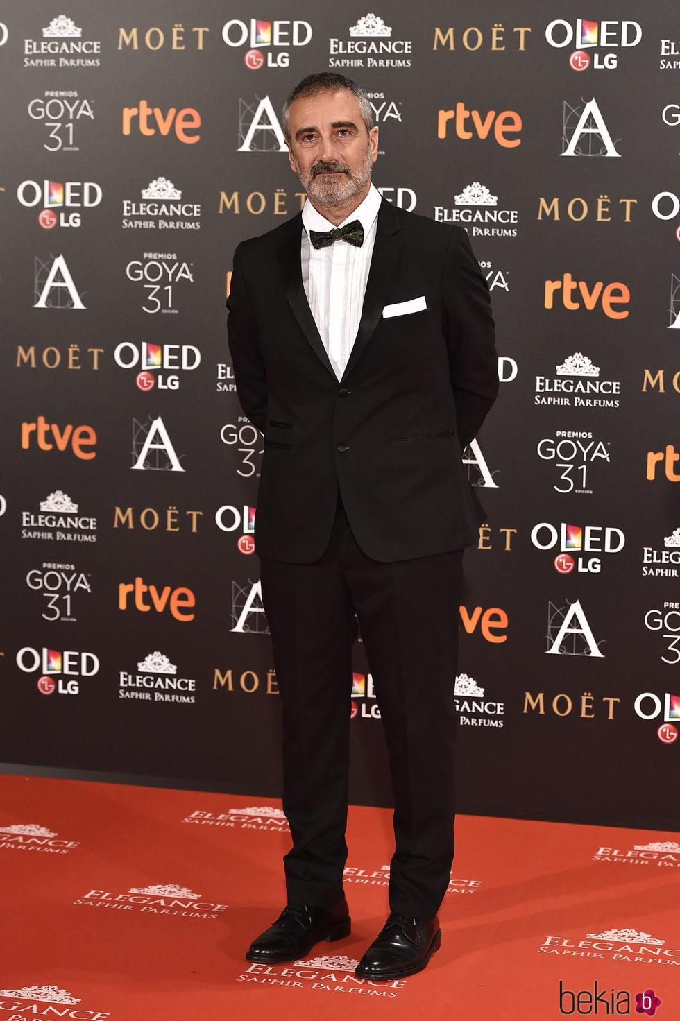 Javier Fesser en la alfombra roja de los Premios Goya 2017