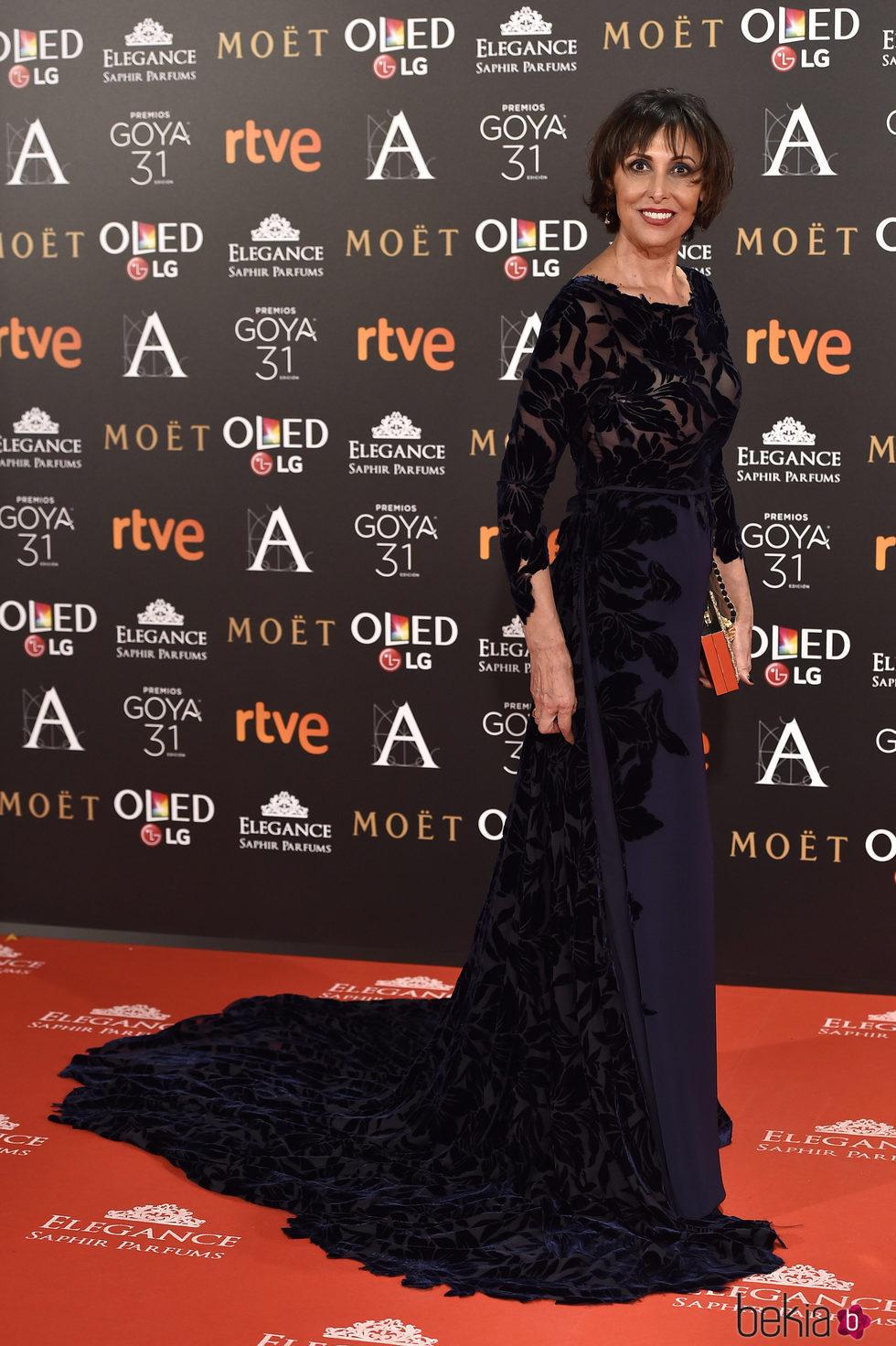 María Barranco en la alfombra roja de los Premios Goya 2017