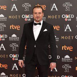 Fernando Cayo en la alfombra roja de los Premios Goya 2017