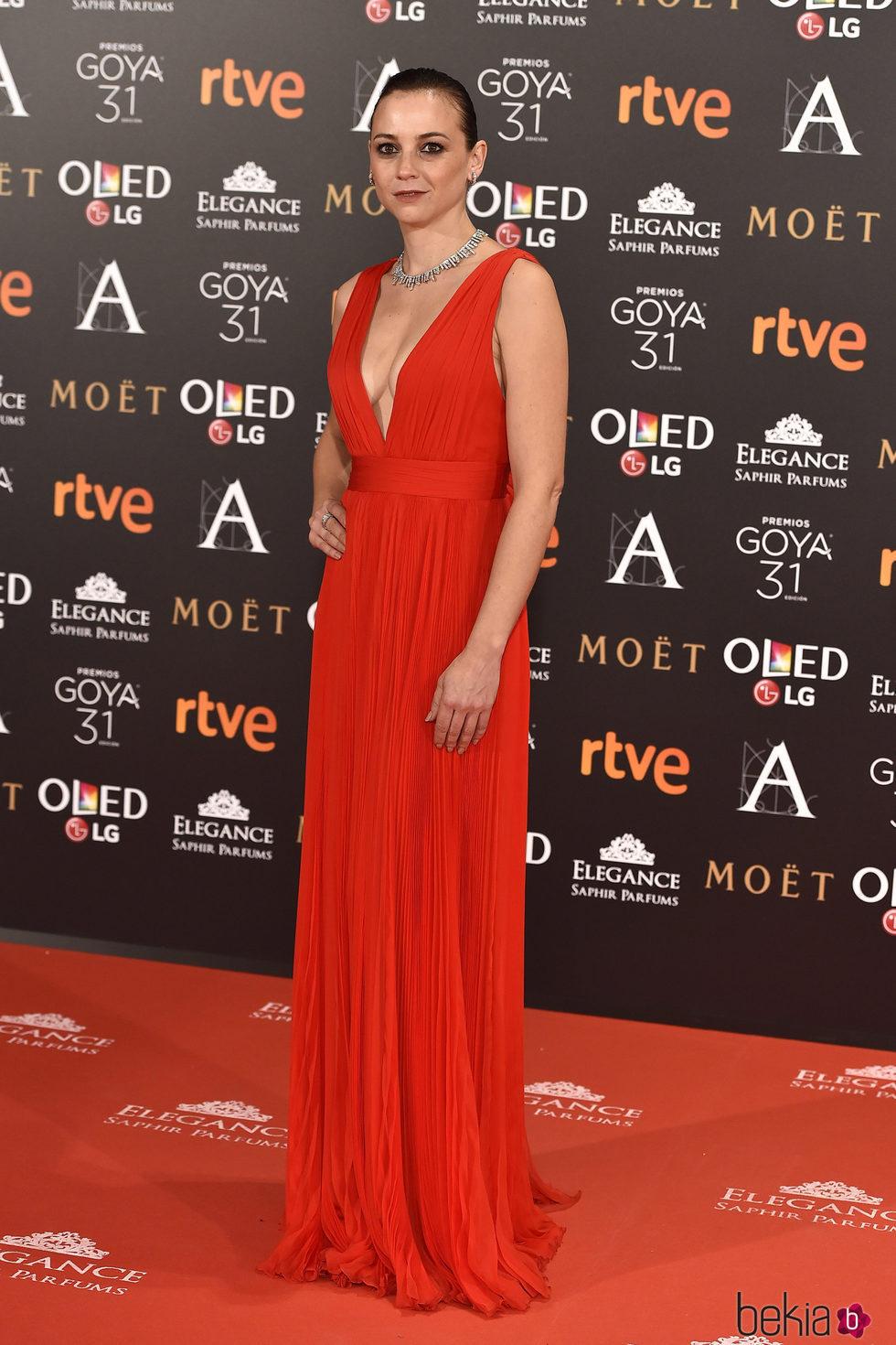 Leonor Watling en la alfombra roja de los Premios Goya 2017