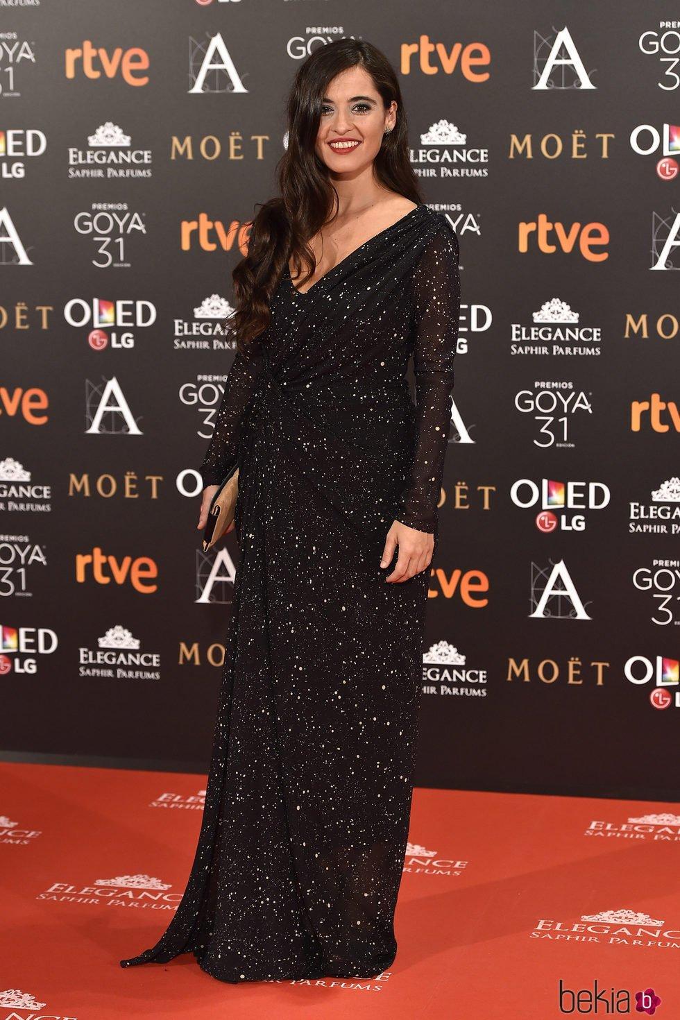 Silvia Pérez en la alfombra roja de los Premios Goya 2017
