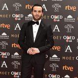 Ricardo Gómez en la alfombra roja de los Premios Goya 2017