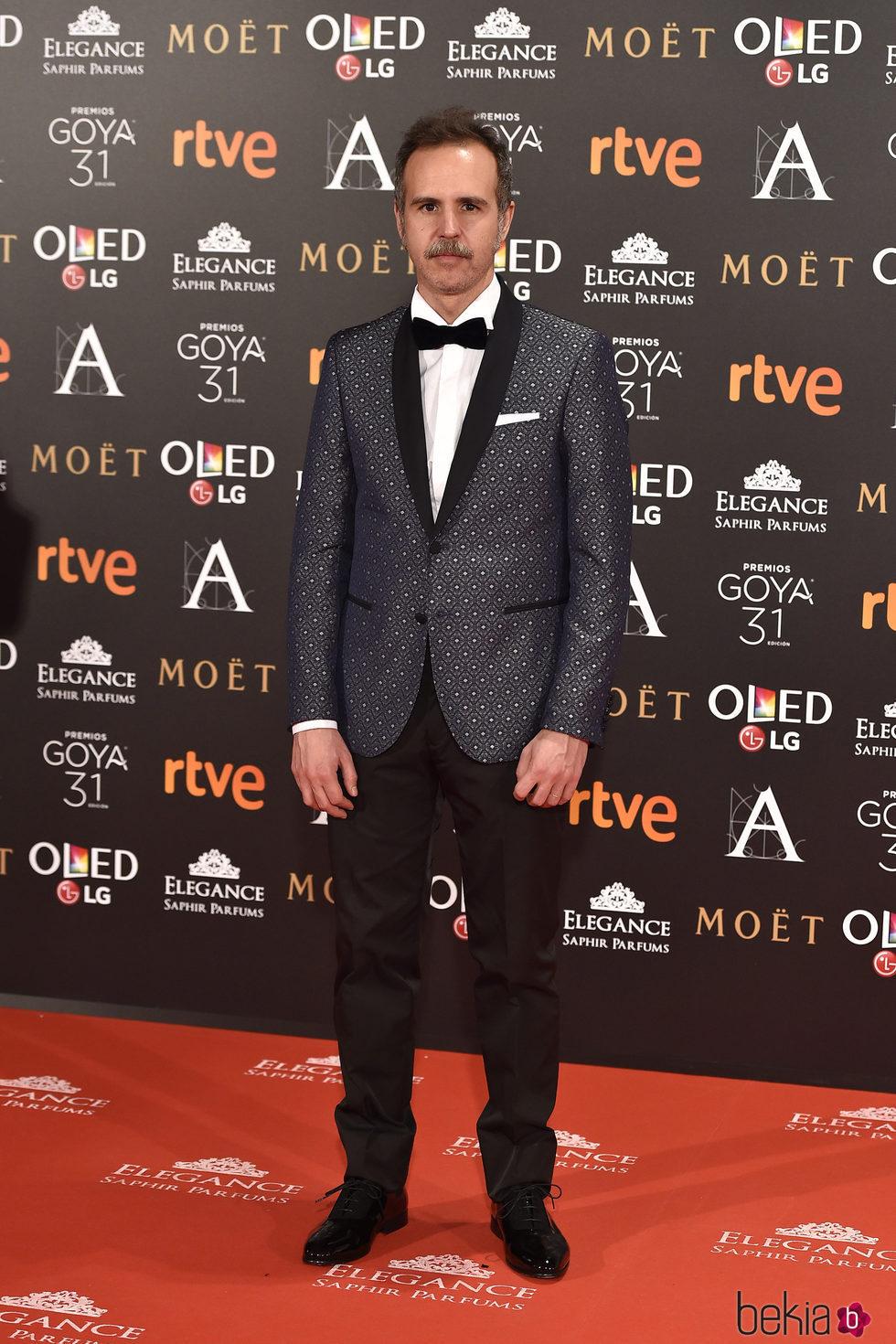 Marc Crehuet en la alfombra roja de los Premios Goya 2017