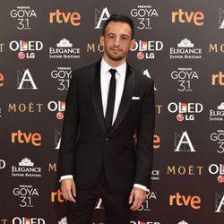 Alejandro Amenábar en la alfombra roja de los Premios Goya 2017