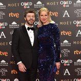 Anne Igartiburu y Pablo Heras-Casado en la alfombra roja de los Premios Goya 2017