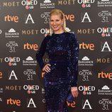 Anne Igartiburu en la alfombra roja de los Premios Goya 2017