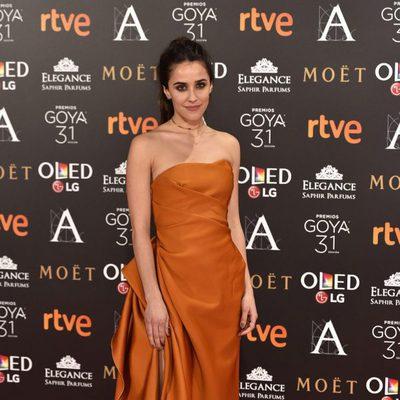 Macarena García en la alfombra roja de los Premios Goya 2017