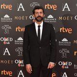 Alberto Rodríguez en la alfombra roja de los Premios Goya 2017