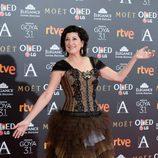 Montserrat Alcover en la alfombra roja de los Premios Goya 2017