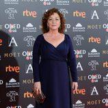 Eulalia Ramón en la alfombra roja de los Premios Goya 2017