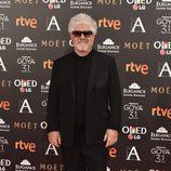 Pedro Almodóvar en la alfombra roja de los Premios Goya 2017