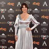 Aitana Sánchez Gijón en la alfombra roja de los Premios Goya 2017