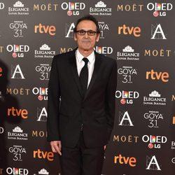 Alberto Iglesias en la alfombra roja de los Premios Goya 2017