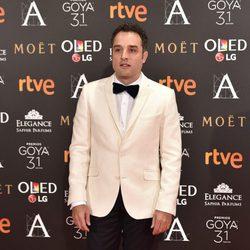 Daniel Guzmán en la alfombra roja de los Premios Goya 2017