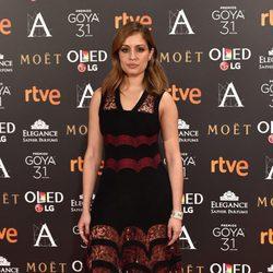 Hiba Abouk en la alfombra roja de los Premios Goya 2017