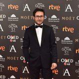 Carlos Santos en la alfombra roja de los Premios Goya 2017