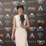 Anna Castillo posa con su Goya a Mejor Actriz Revelación