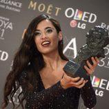 La cantante Silvia Pérez Cruz con su Goya 2017