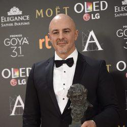 Roberto Álamo con su Goya por Mejor Actor Protagonista