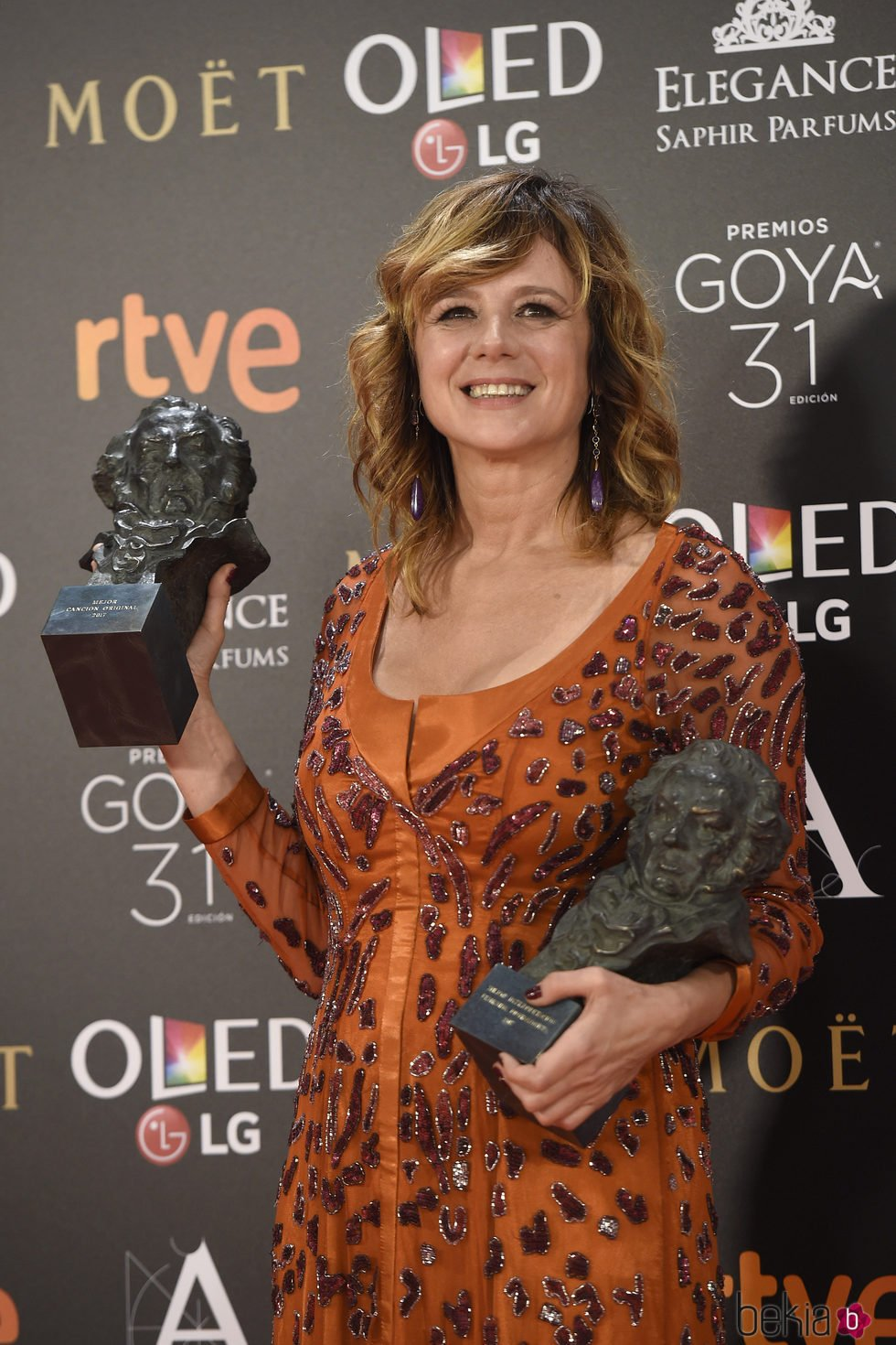 Emma Suárez, ganadora de dos Premios Goya