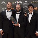 El director Guillermo García López con su Goya a Mejor Película Documental