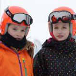 La Princesa Leonor y la Infanta Sofía en la estación de esquí de Astún