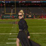 Lady Gaga antes de su actuación en la Super Bowl 2017