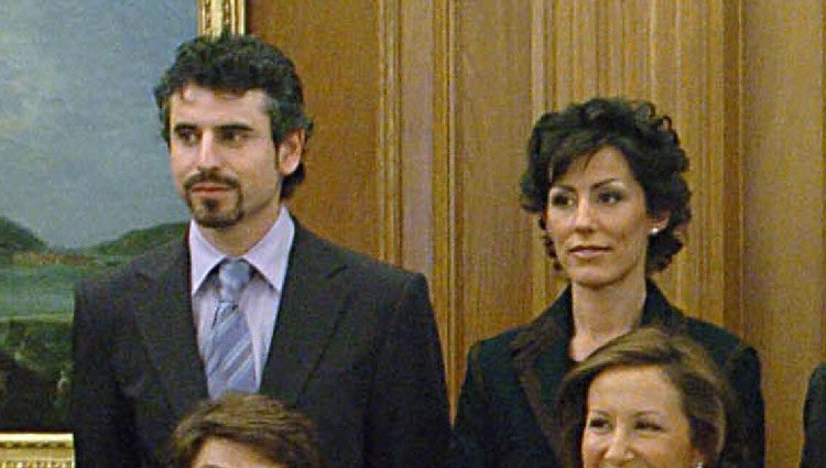 Érika Ortiz Rocasolano y Antonio Vigo en el bautizo de la Princesa Leonor