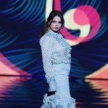 Marisa Jara desfilando en el SIMOF 2017